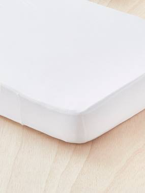 Mattress Liner/Fitted Sheet, 2-in-1 white light solid